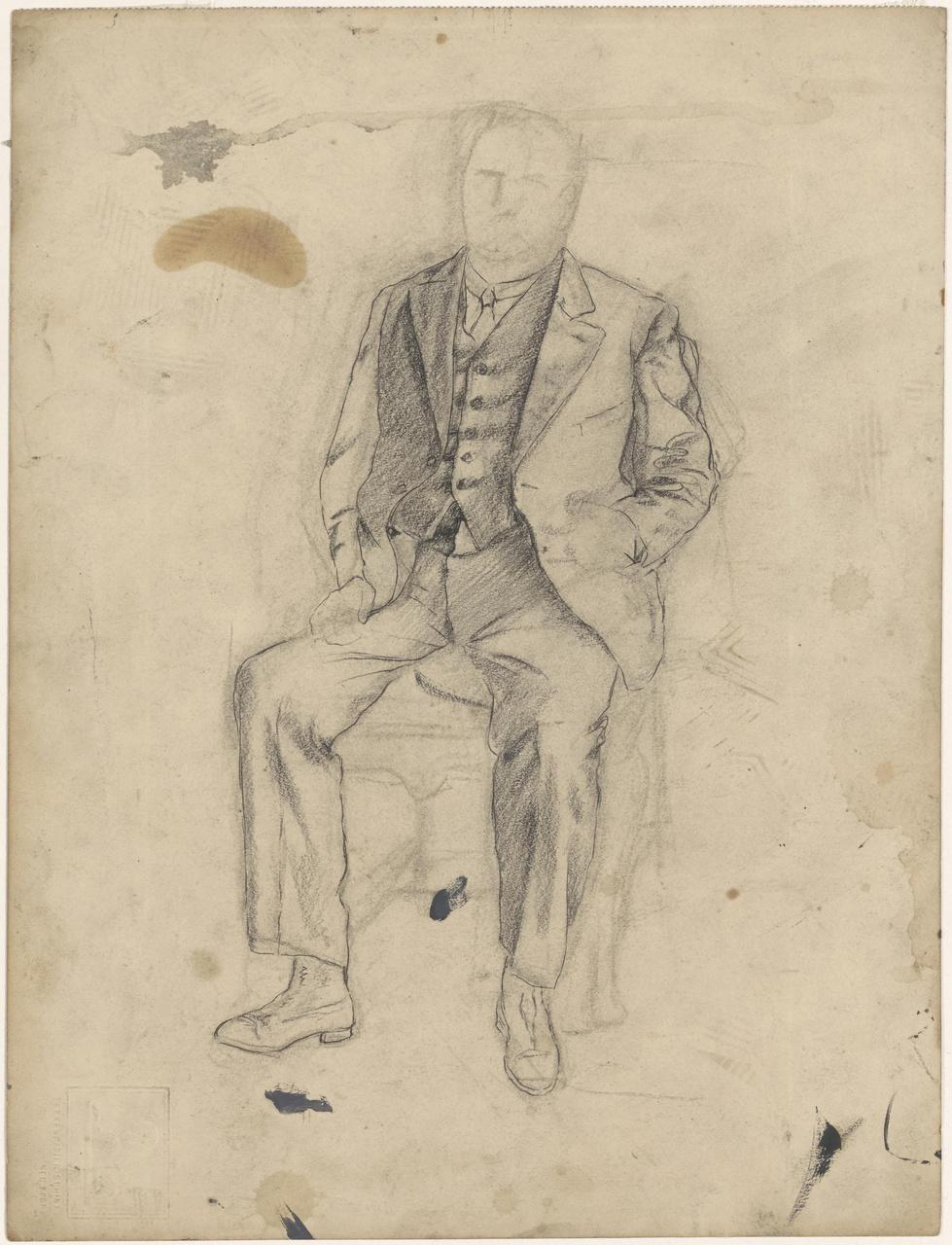 Studie voor portret van  M. Vermooten