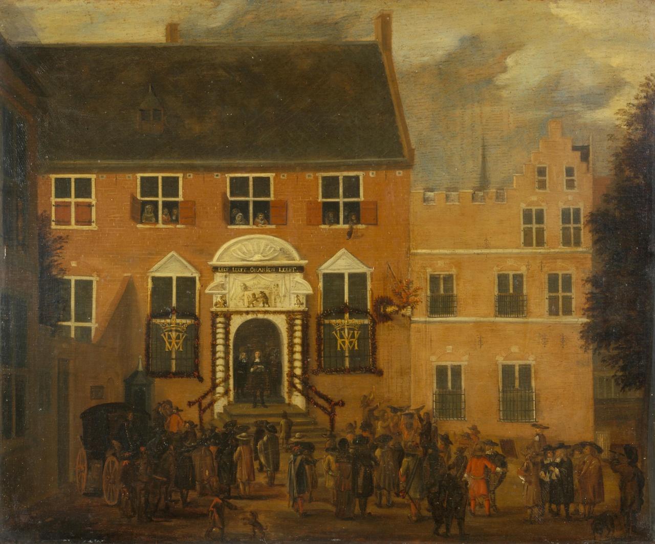 Afkondiging van het nieuwe regeringsregelement te Utrecht in 1674