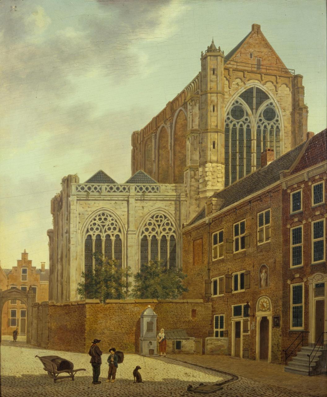 Het Munsterkerkhof met omgeving in Utrecht