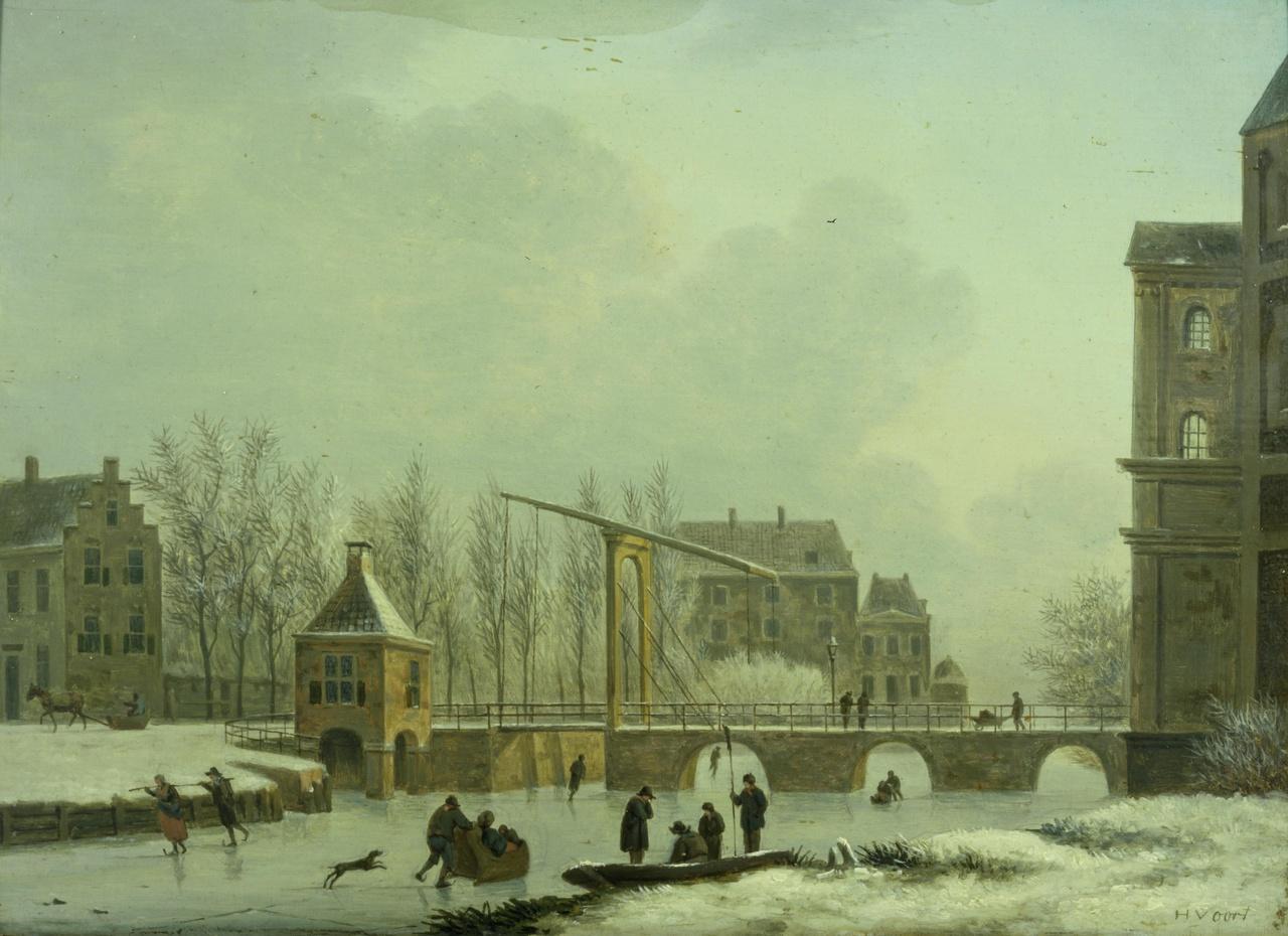 De Wittevrouwensingel bij de Wittevrouwenpoort in Utrecht