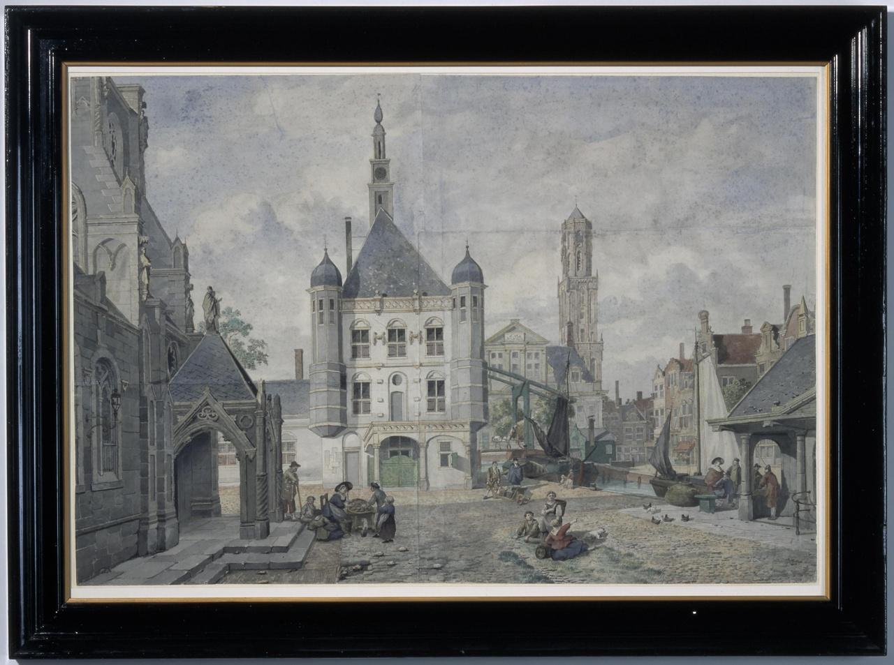 Stadsplein met de Domtoren van Utrecht