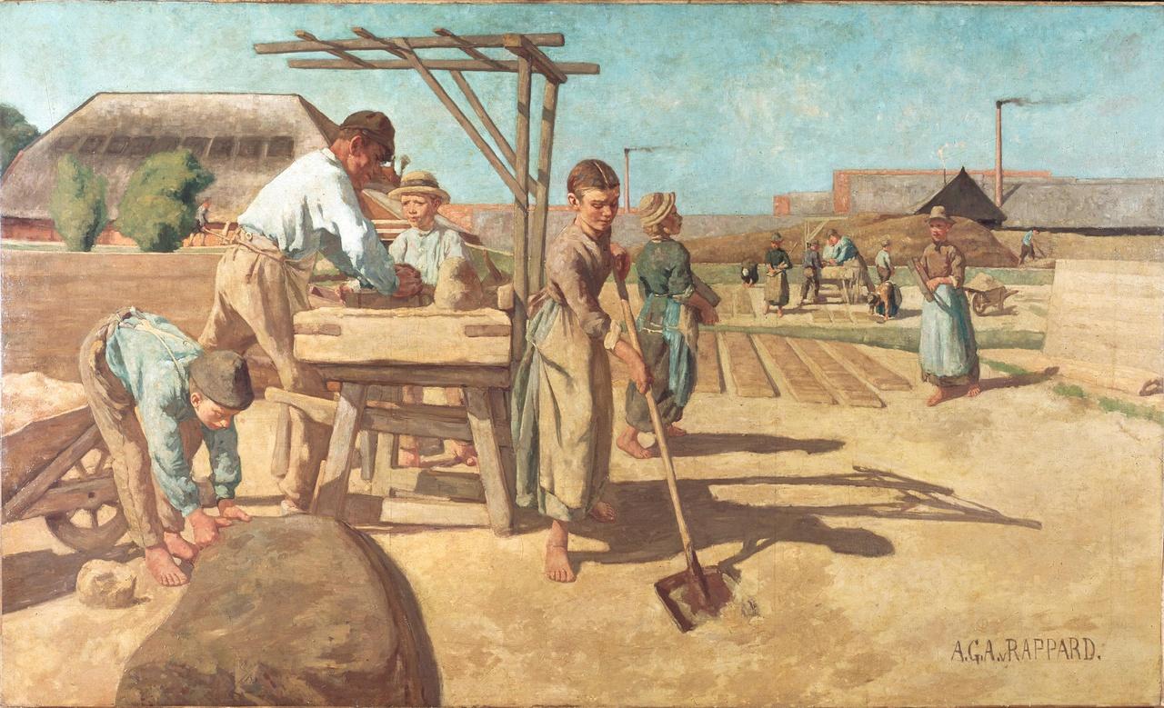 Arbeiders op de steenbakkerij Ruimzicht