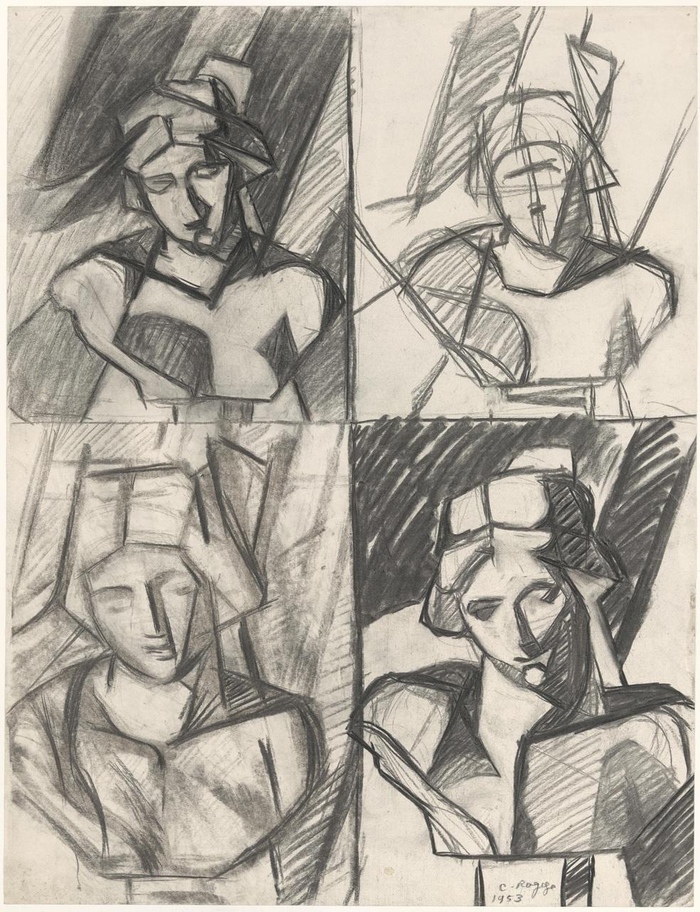 Studie van koppen (borstbeelden)