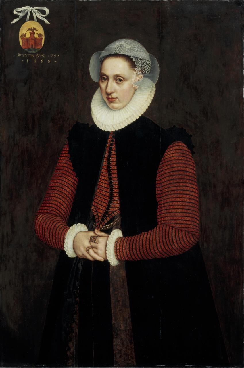 Portret van Anna van Valckenburgh (1563-1633), echtgenote van Aernout Cobbault