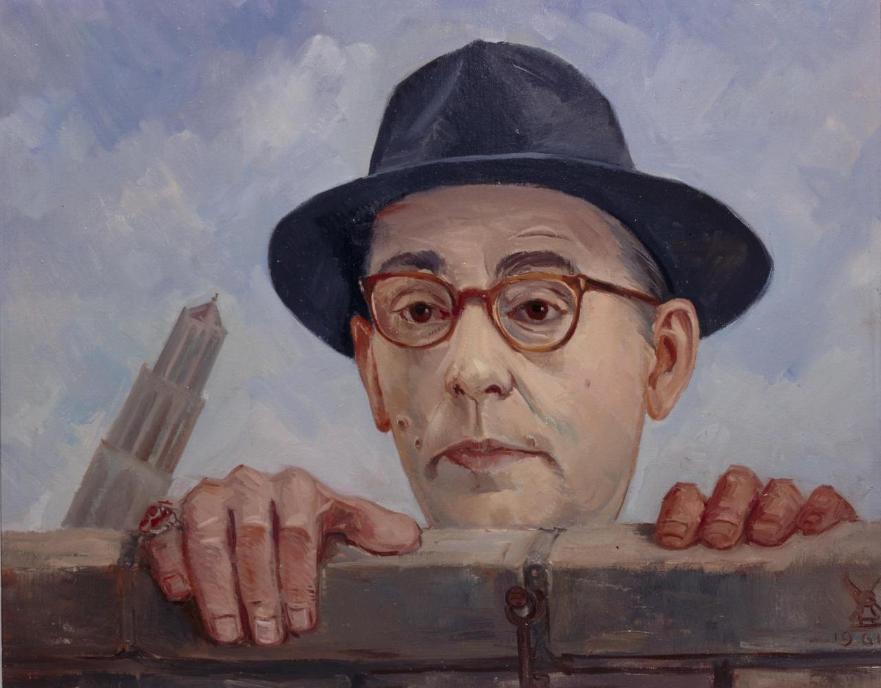 Portret van de schrijver Jan Engelman (1900-1972)