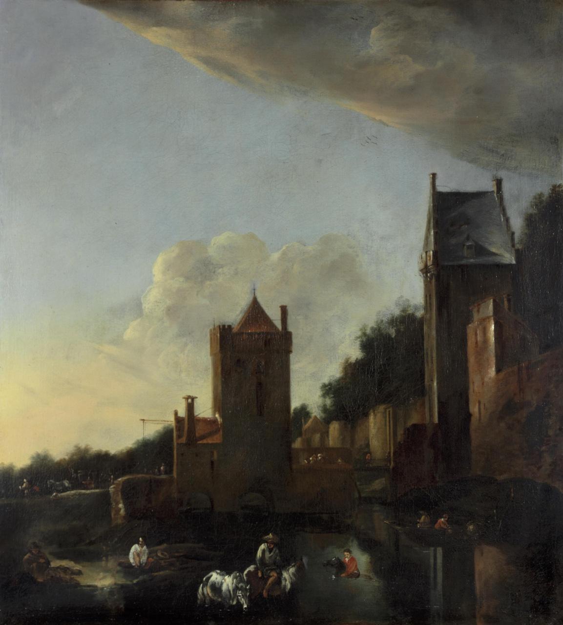 De Wittevrouwenpoort met omgeving te Utrecht