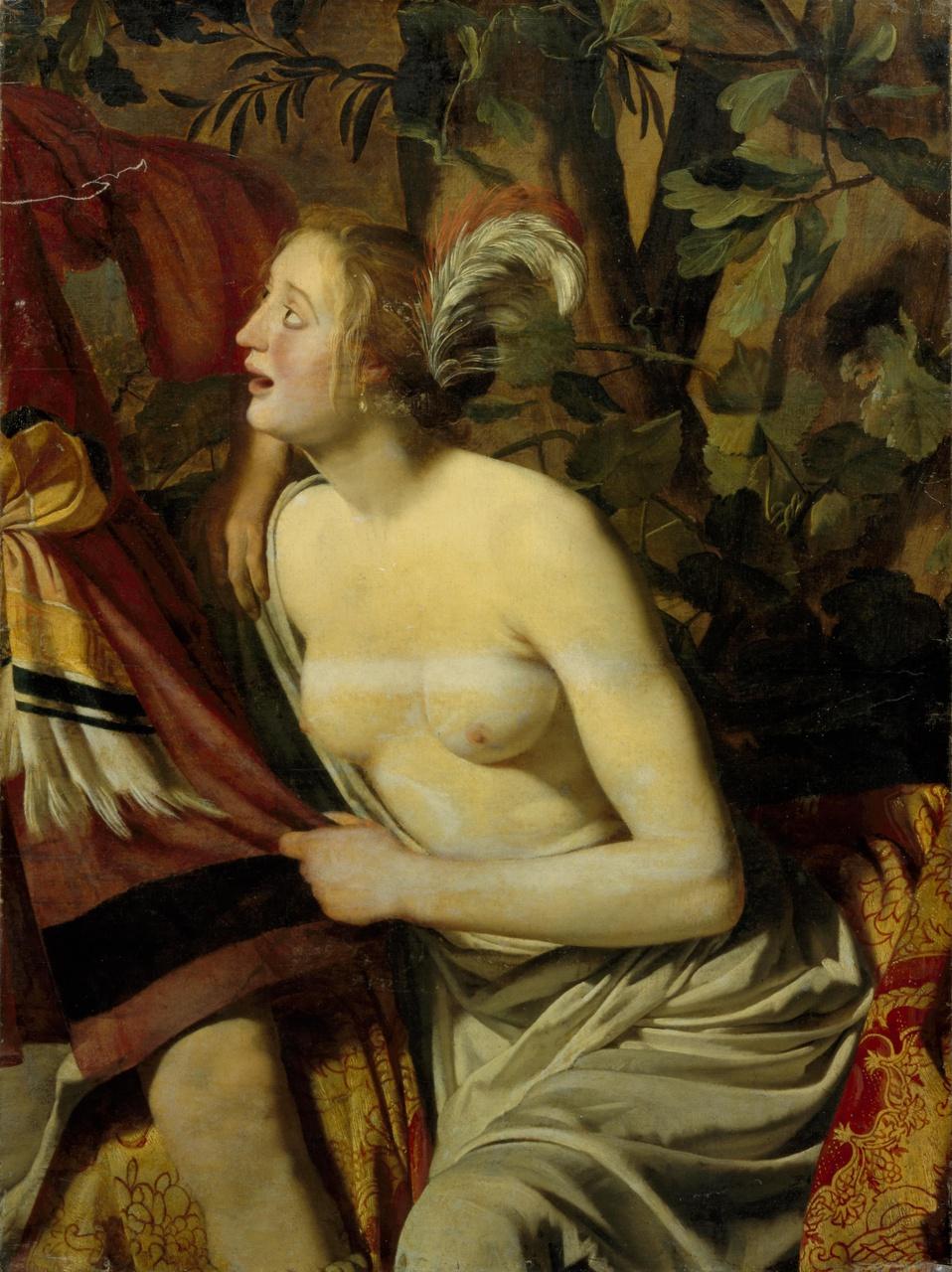 Fragment van een wandbespanning; Venus en Adonis