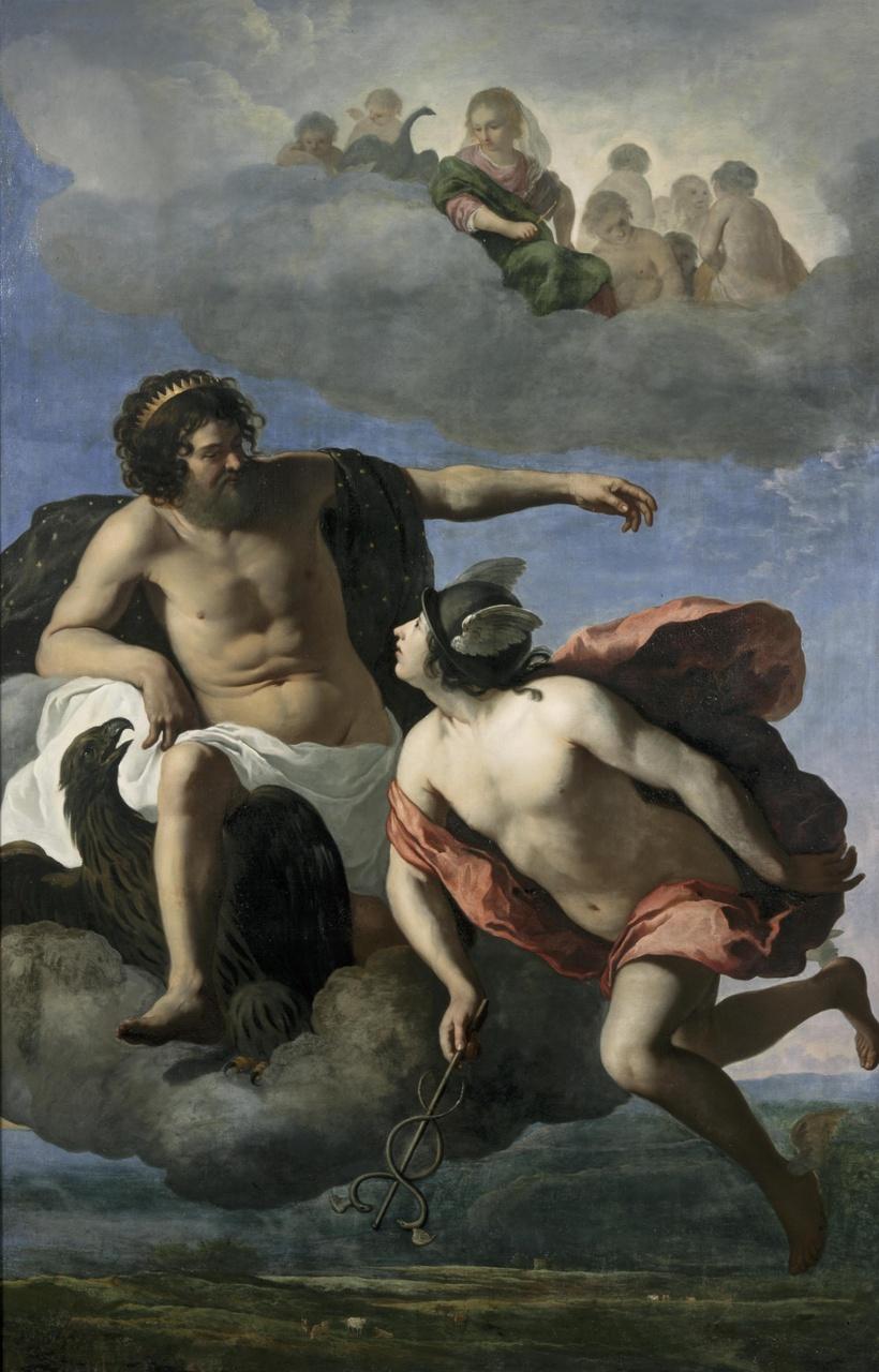 Jupiter geeft Mercurius opdracht Argus te doden