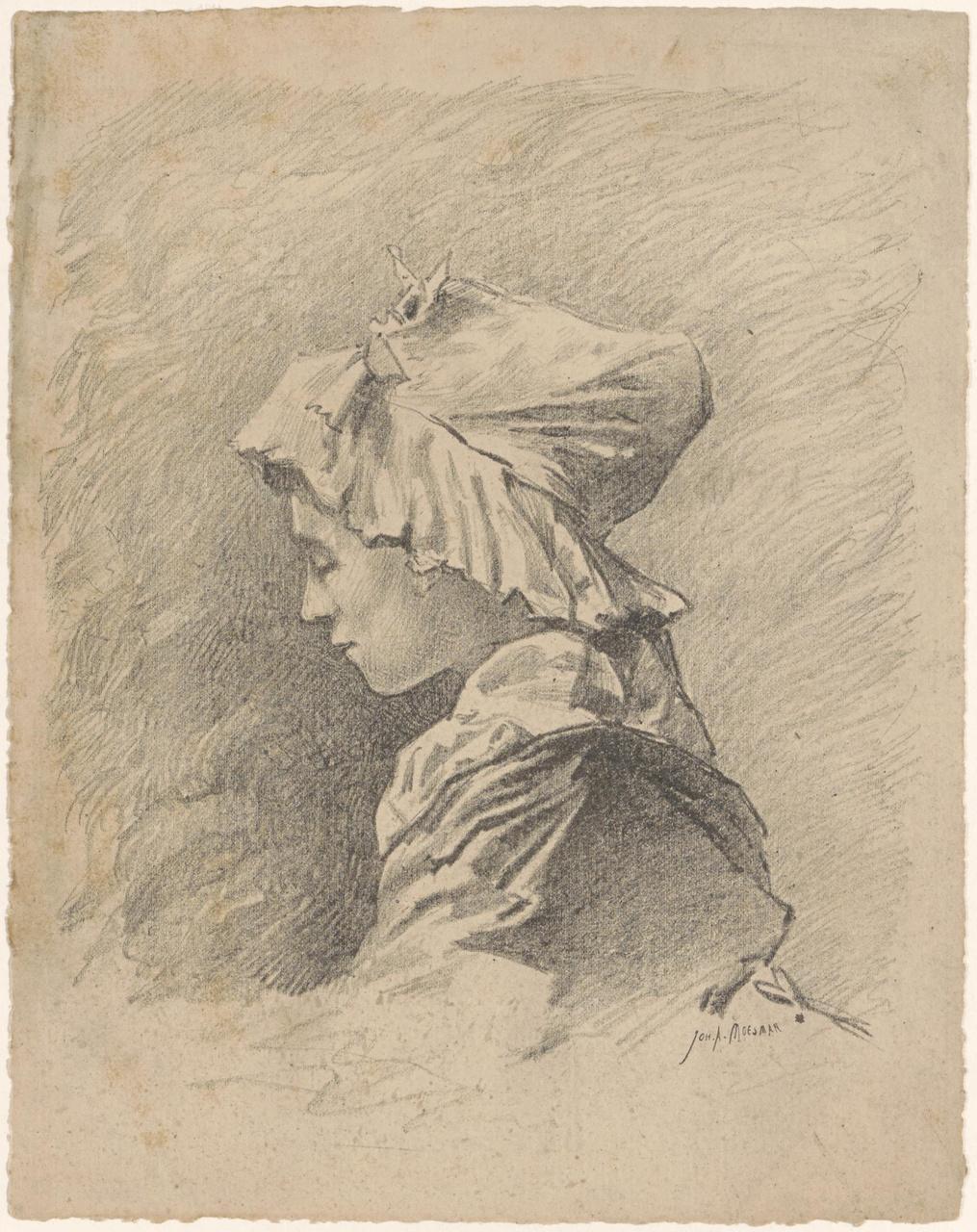 Borstbeeld van een meisje