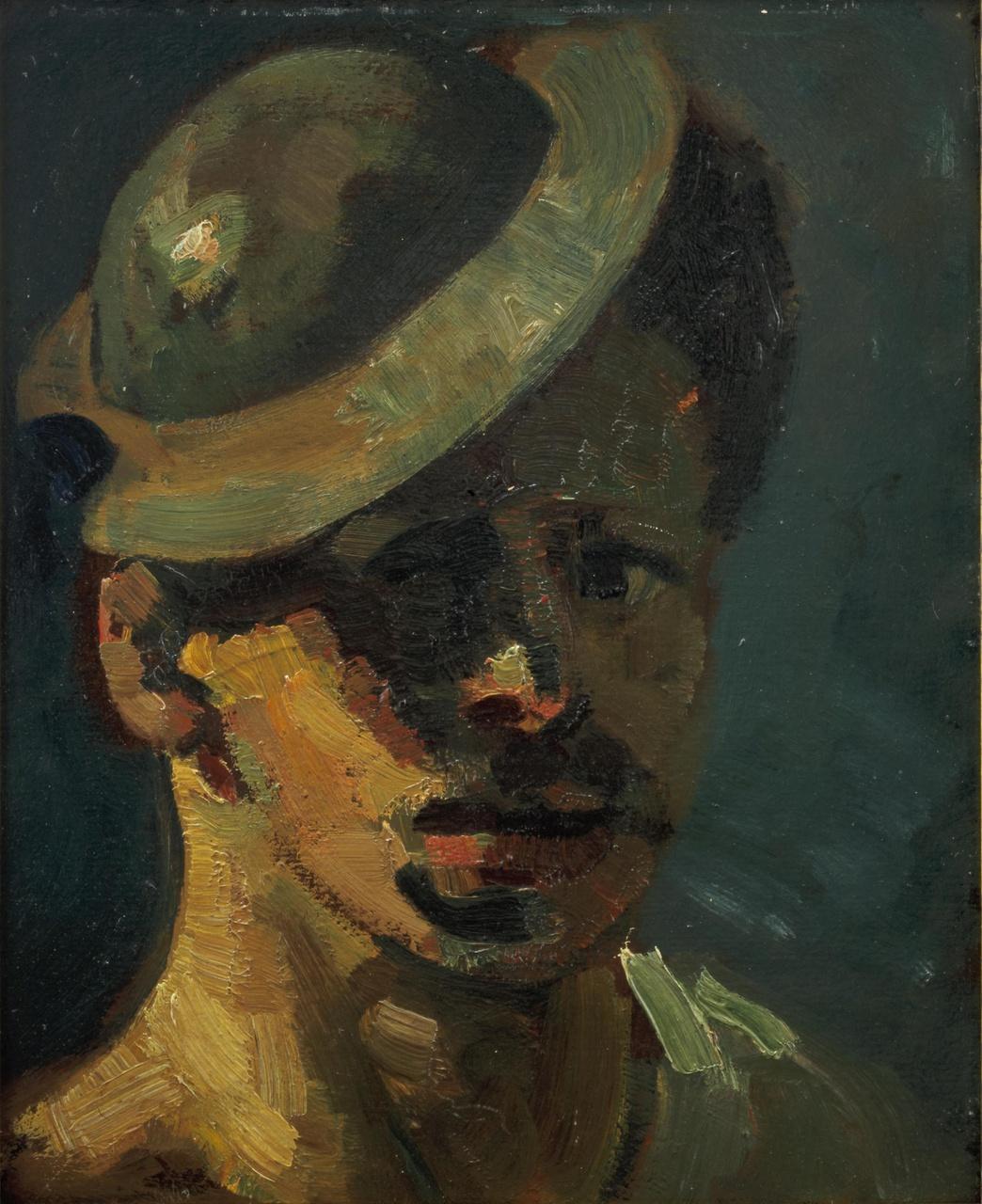 Zelfportret met hoedje