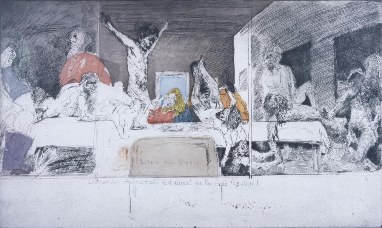 Leonardos Abendmahl restauriert von Pier Paolo Pasolini