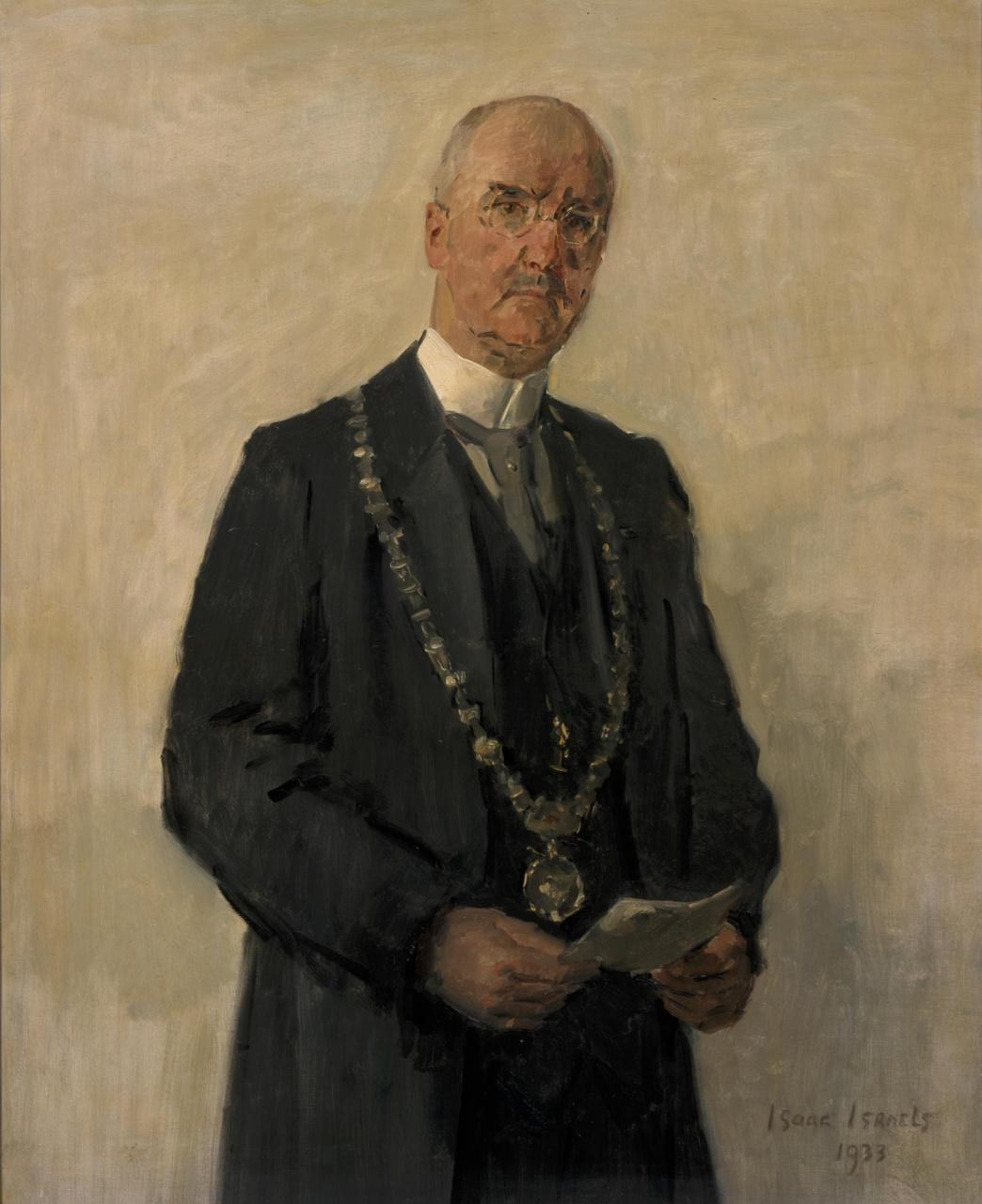 Portret van burgemeester dr. J.P. Fockema Andreae
