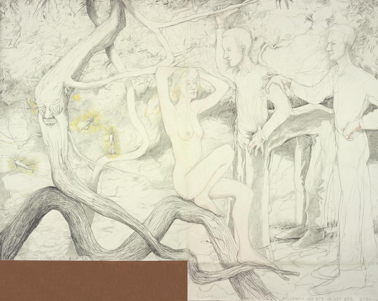 Zilveren meisje in het bos