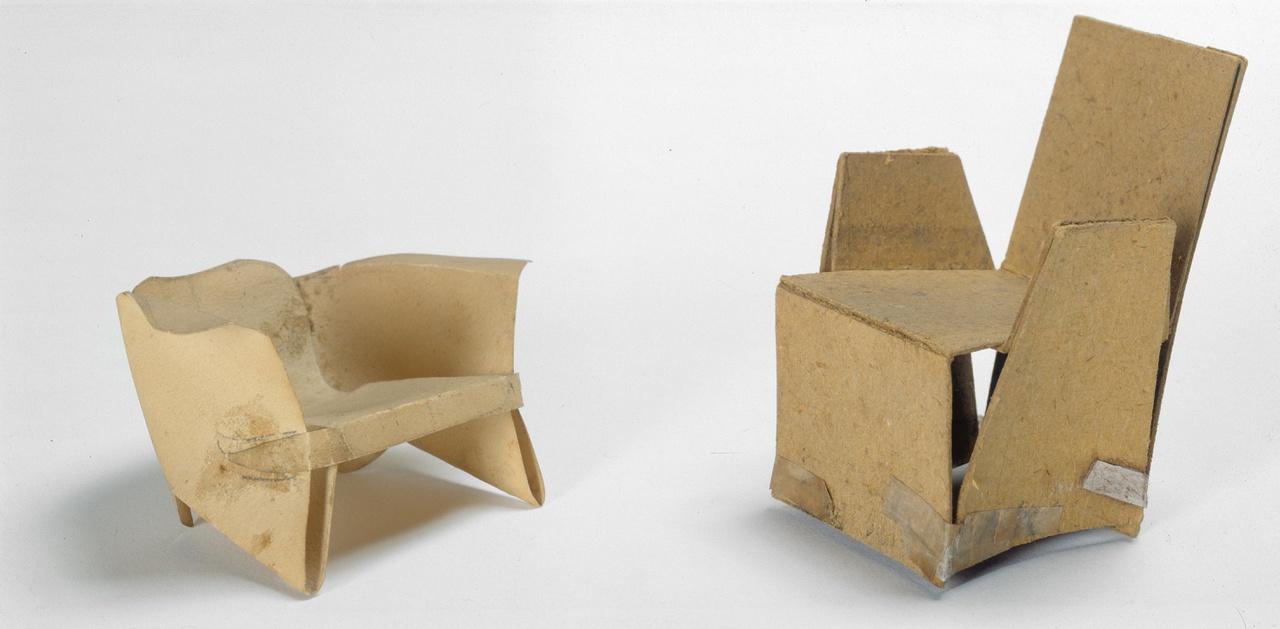 Model van stoel uit één stuk