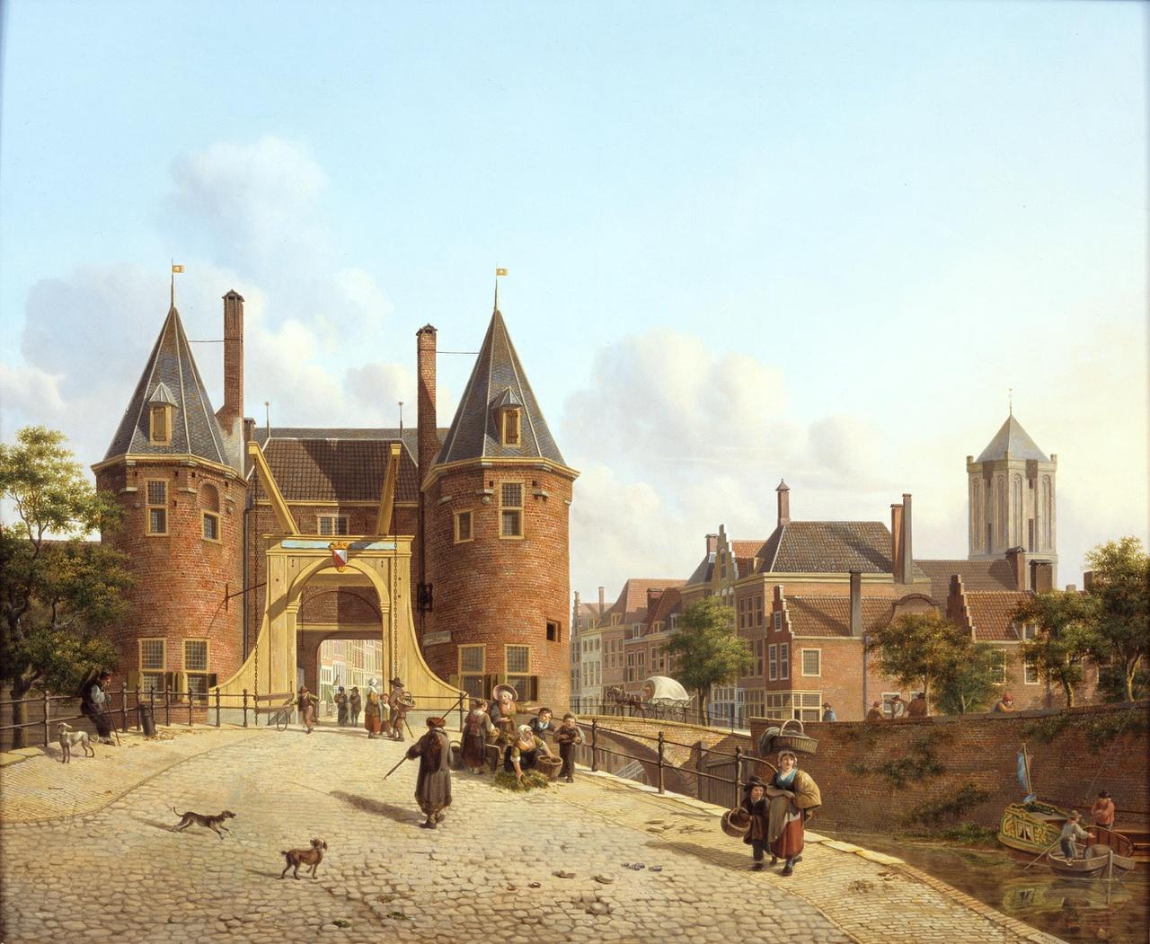 Gezicht op de Weerdpoort in Utrecht