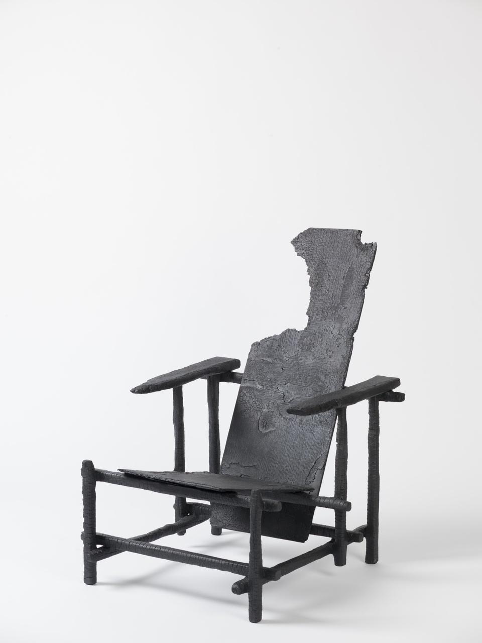 'Smoke' Red Blue chair