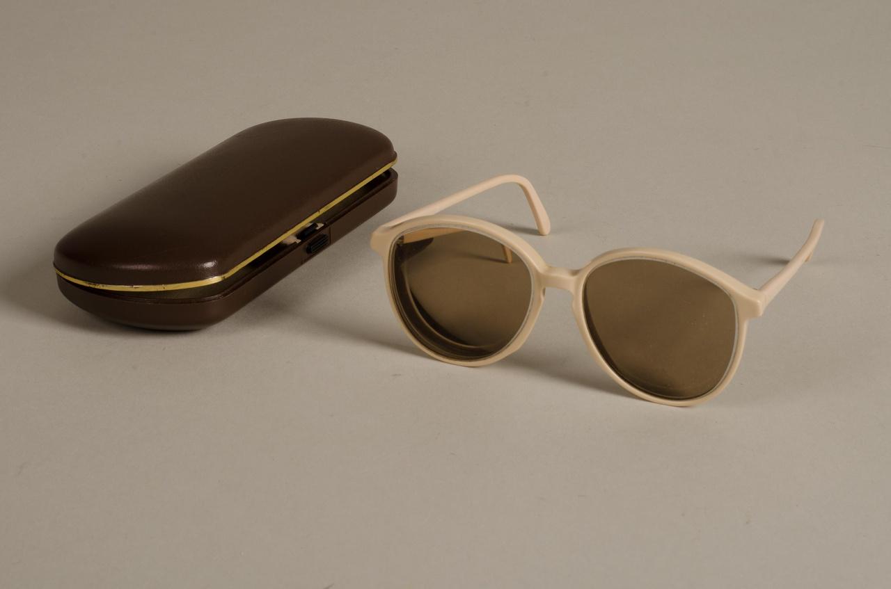 Zonnebril in koker