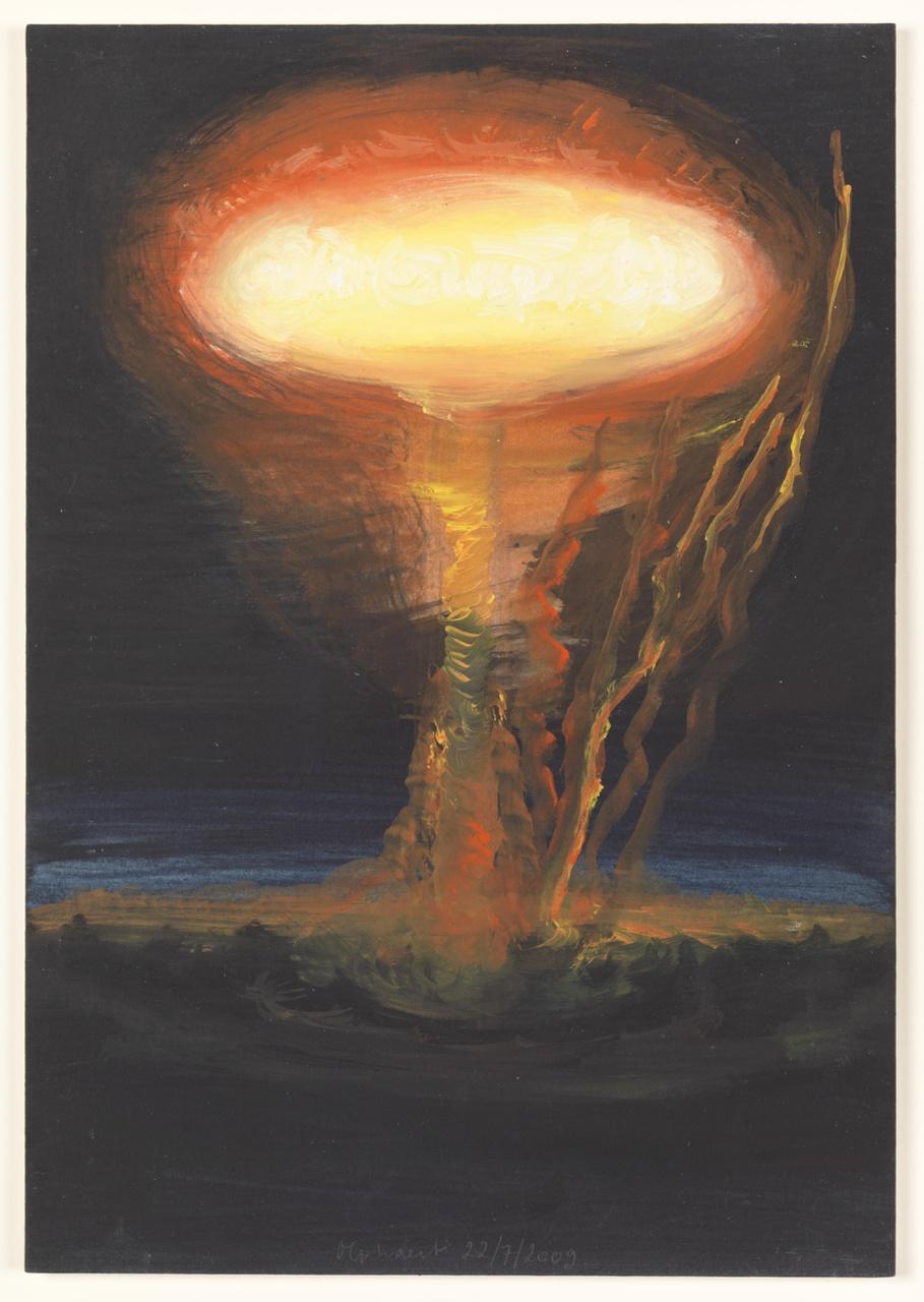 vuur 22/7/2009 (reeks: World Stress Painting, 2009-)