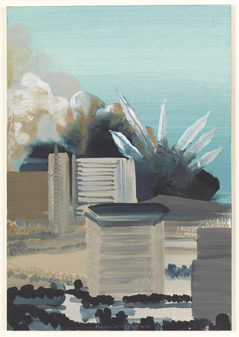 vuur 18/10/2010  (reeks: World Stress Painting, 2009-)