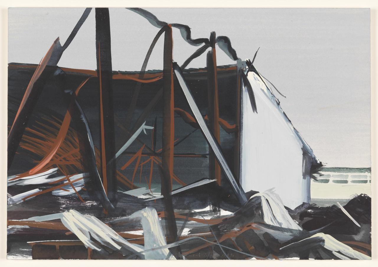 vuur 3/7/2012 (reeks: World Stress Painting, 2009-)
