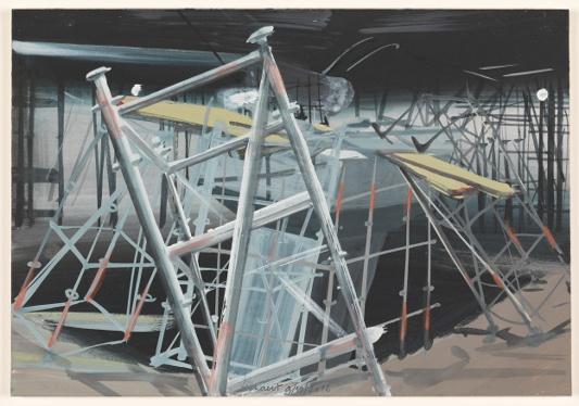 aarde 9/10/2012 (reeks: World Stress Painting, 2009-)