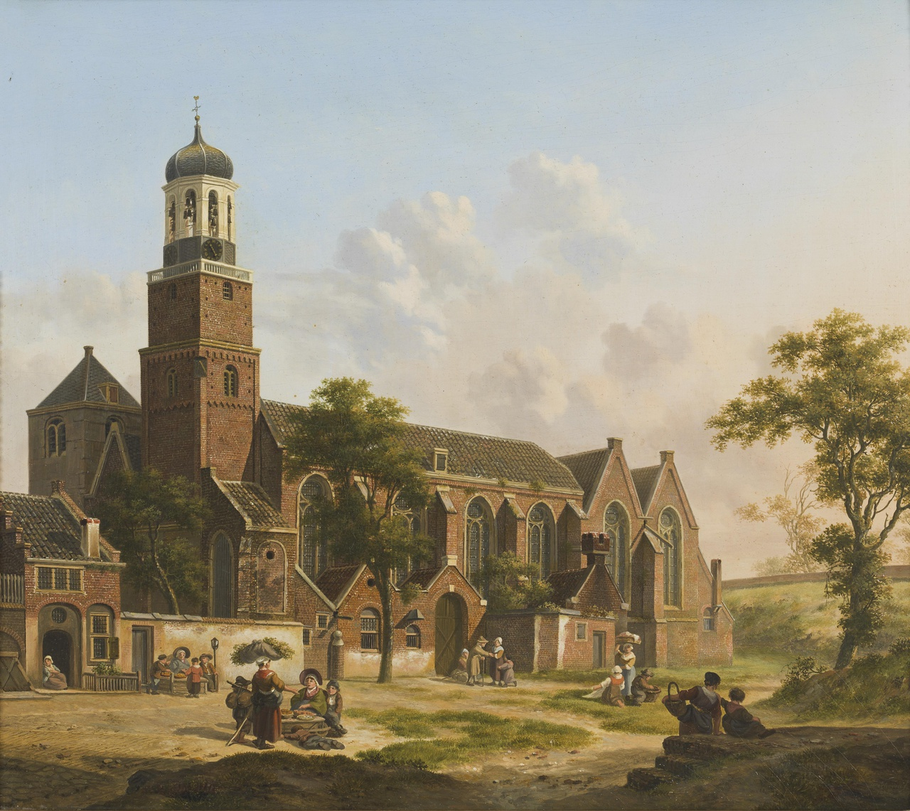 Gezicht op de Klaaskerk