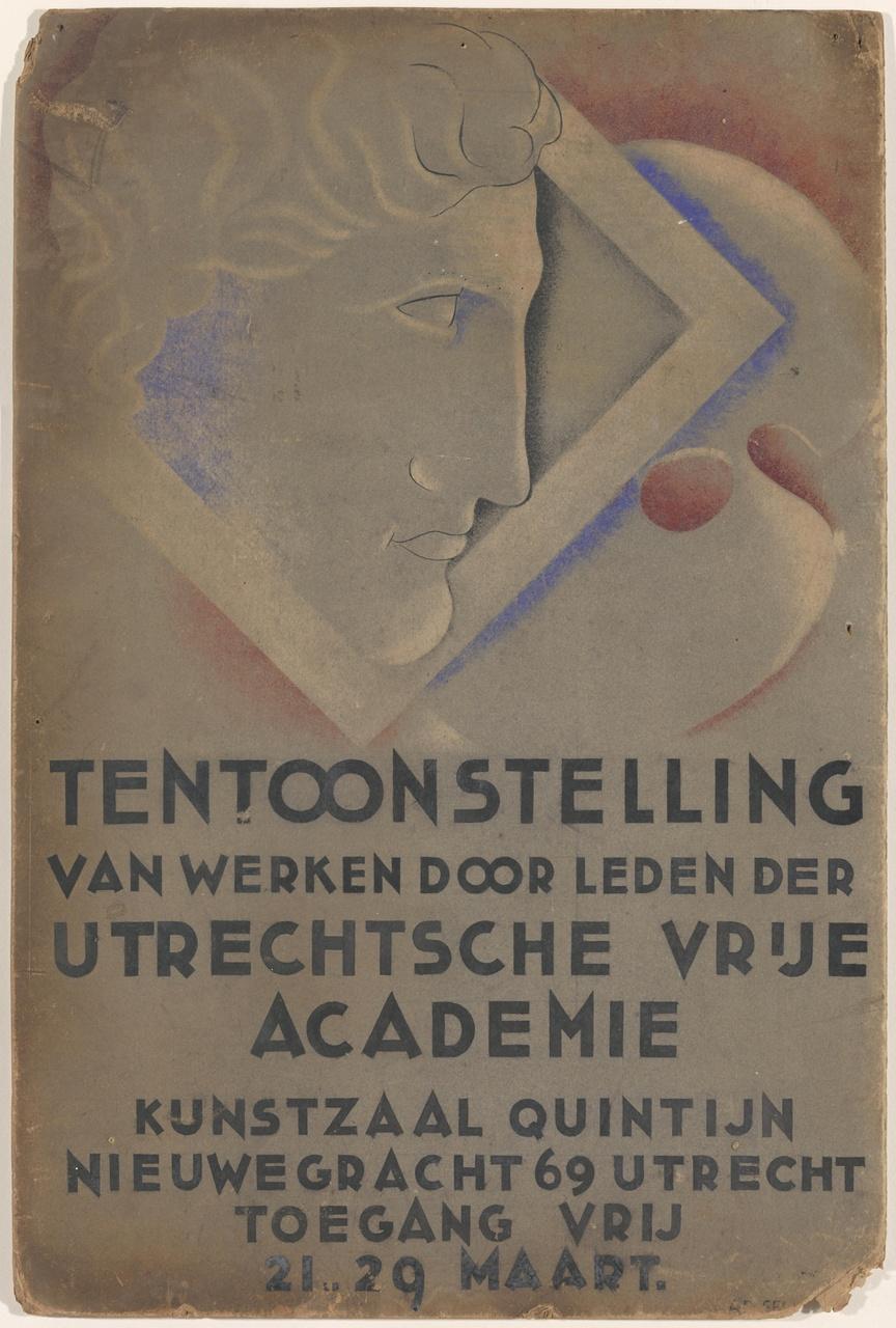Affiche ontwerp Utrechtse Vrije Academie