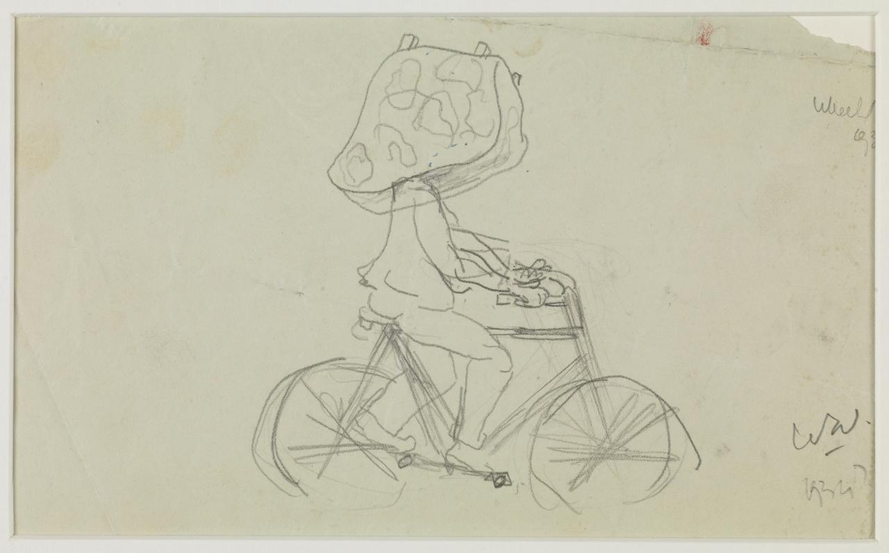 Figuur op fiets