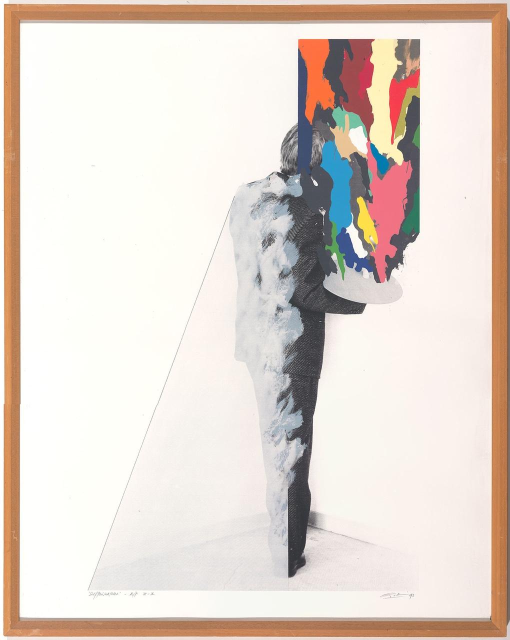 Self painted palet