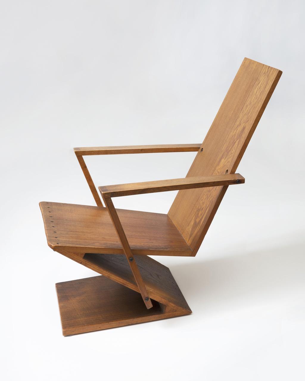Lage Zigzagstoel met armleggers