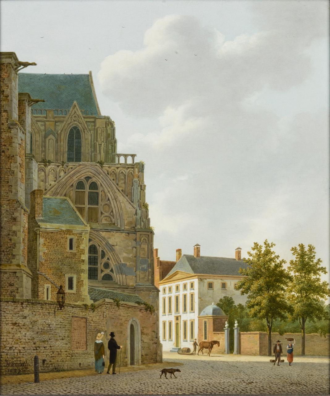 Achter de Dom en de Domstraat in 1827