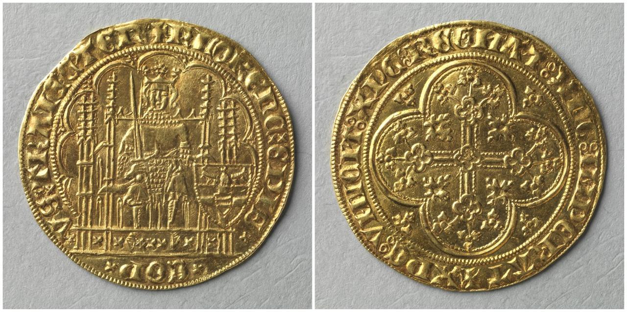 Gouden schild, bisschop  Floris van Wevelichoven (1379-1393)