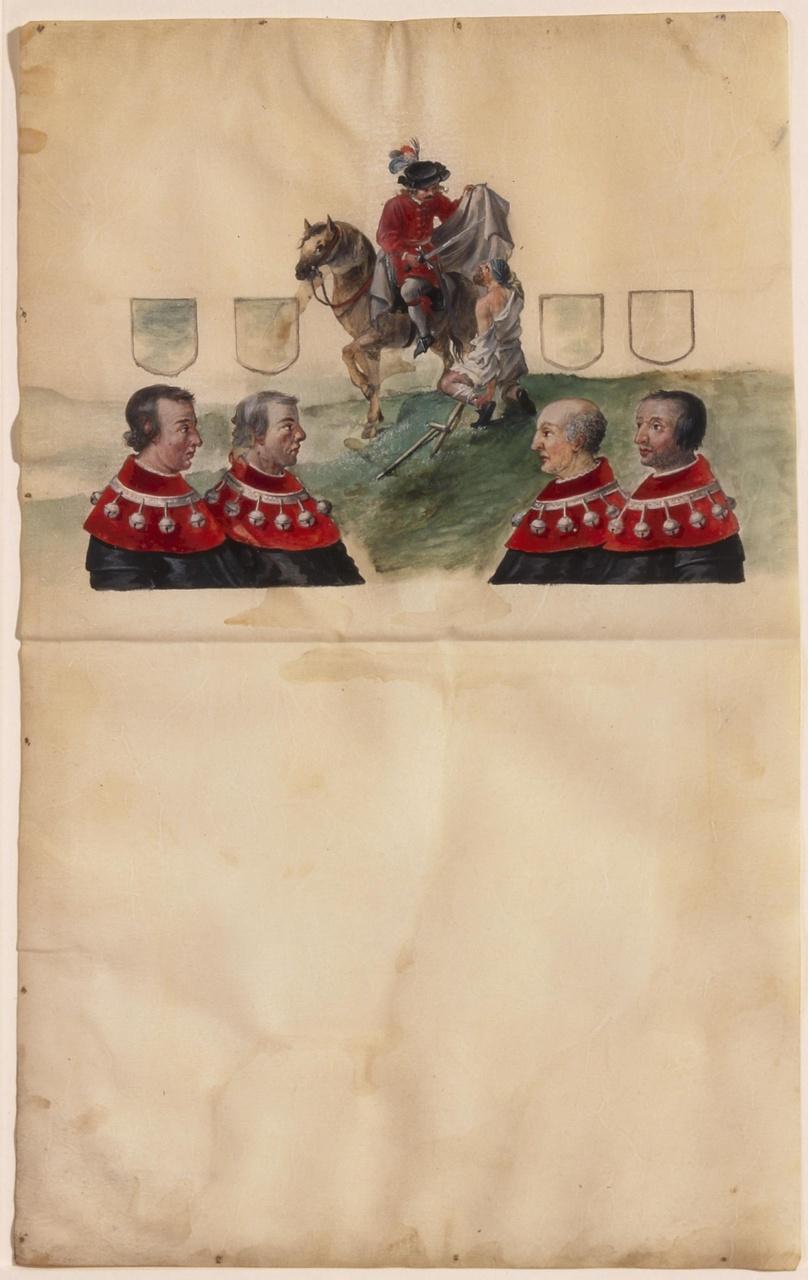 Sint Maarten en de burgemeesters en oudermannen van Utrecht