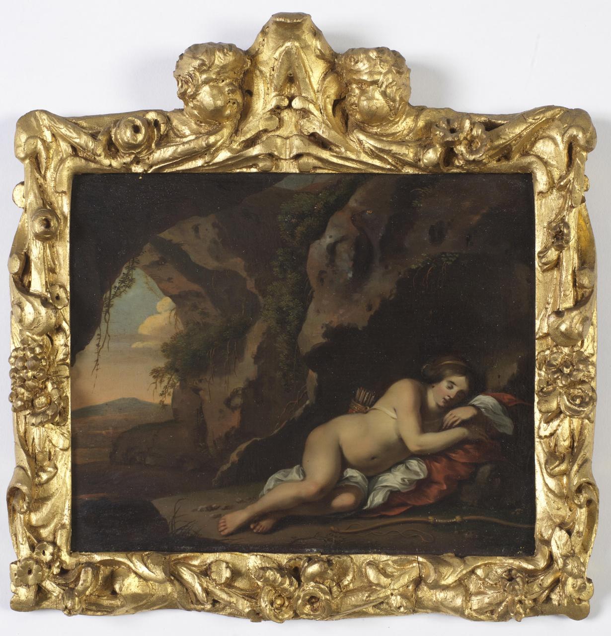Jachtnimf in een grot