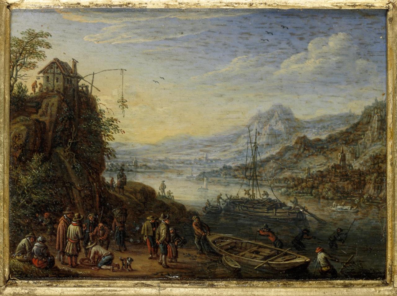 Berglandschap aan de Rijn