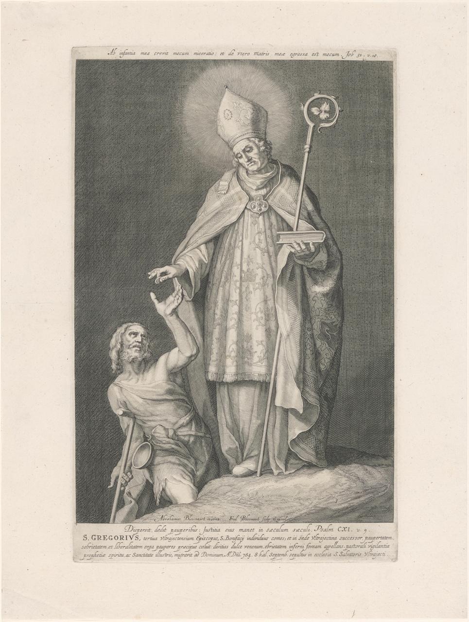 Heilige Gregorius; de aartsbisschoppen en bisschoppen van Utrecht