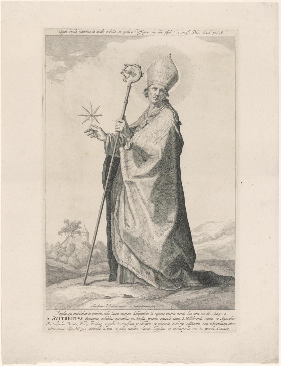Heilige Suitbertus; de aartsbisschoppen en bisschoppen van Utrecht