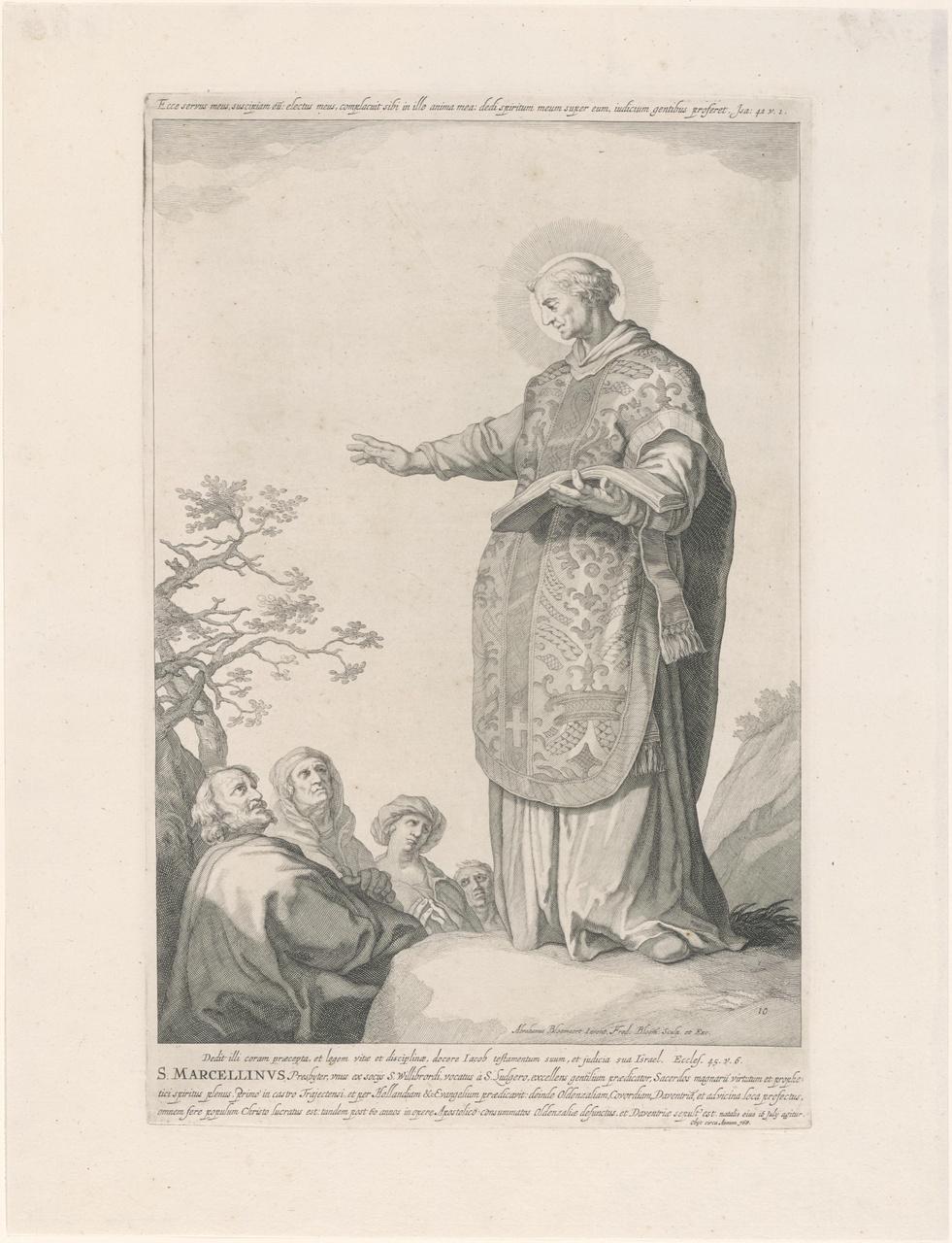 Heilige Marcellinus; de aartsbisschoppen en bisschoppen van Utrecht