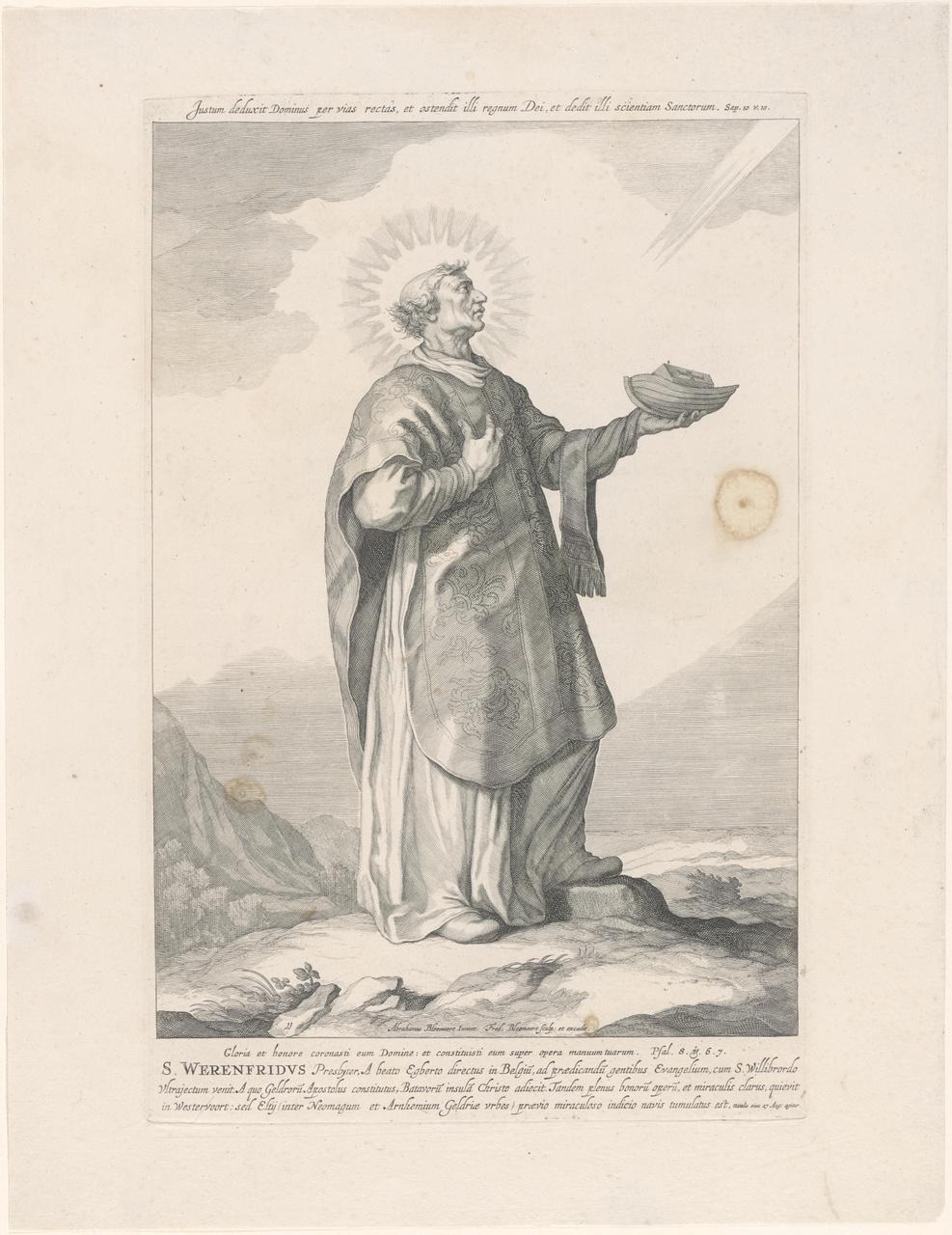 Heilige Werenfridus; de aartsbisschoppen en bisschoppen van Utrecht