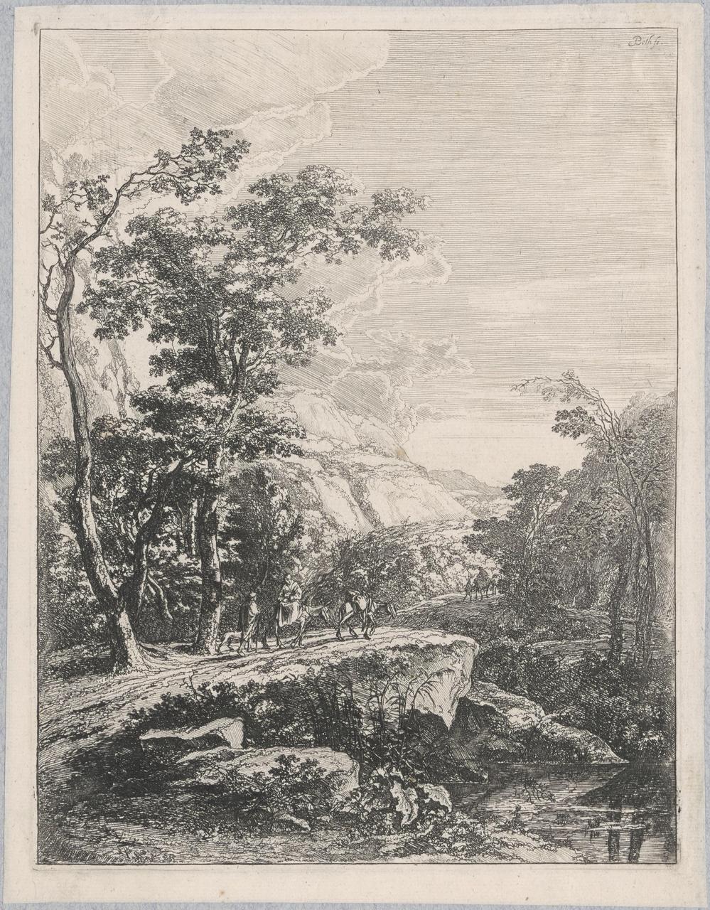 Vrouw op een muilezel (Gezicht op Aqua Negra)