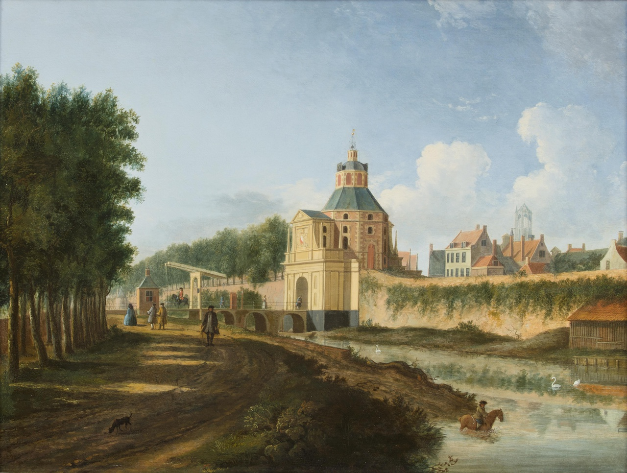De Wittevrouwenpoort en de Wittevrouwensingel te Utrecht
