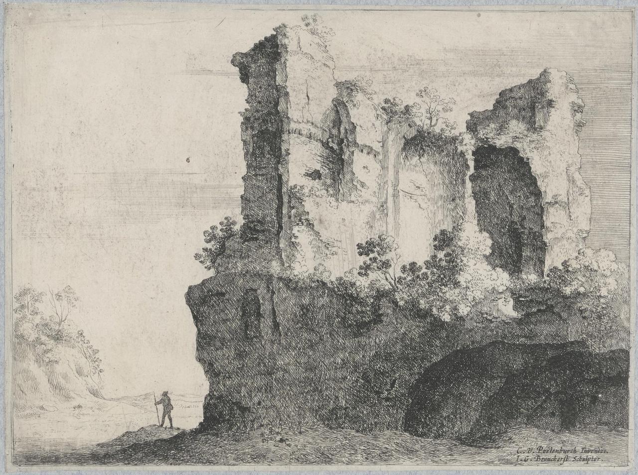 De ruïnes van de Trofeeën van Marius in Rome