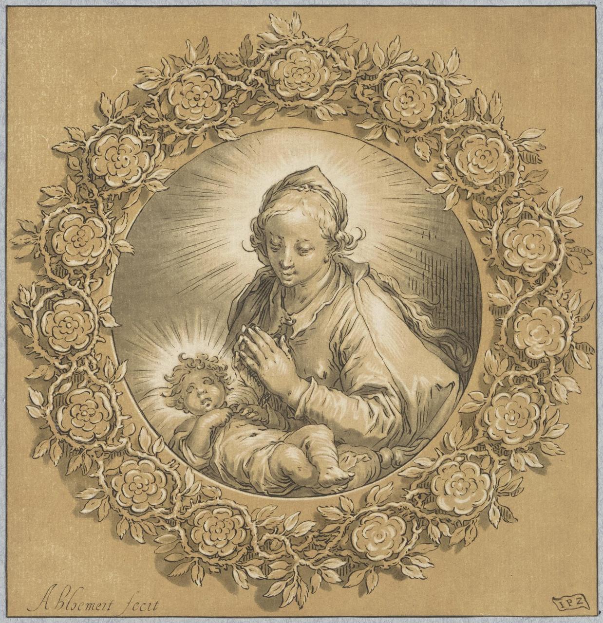 De maagd Maria met het kind Jezus