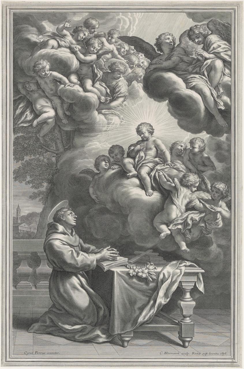 Het Christuskind verschijnt aan de heilige Antonius