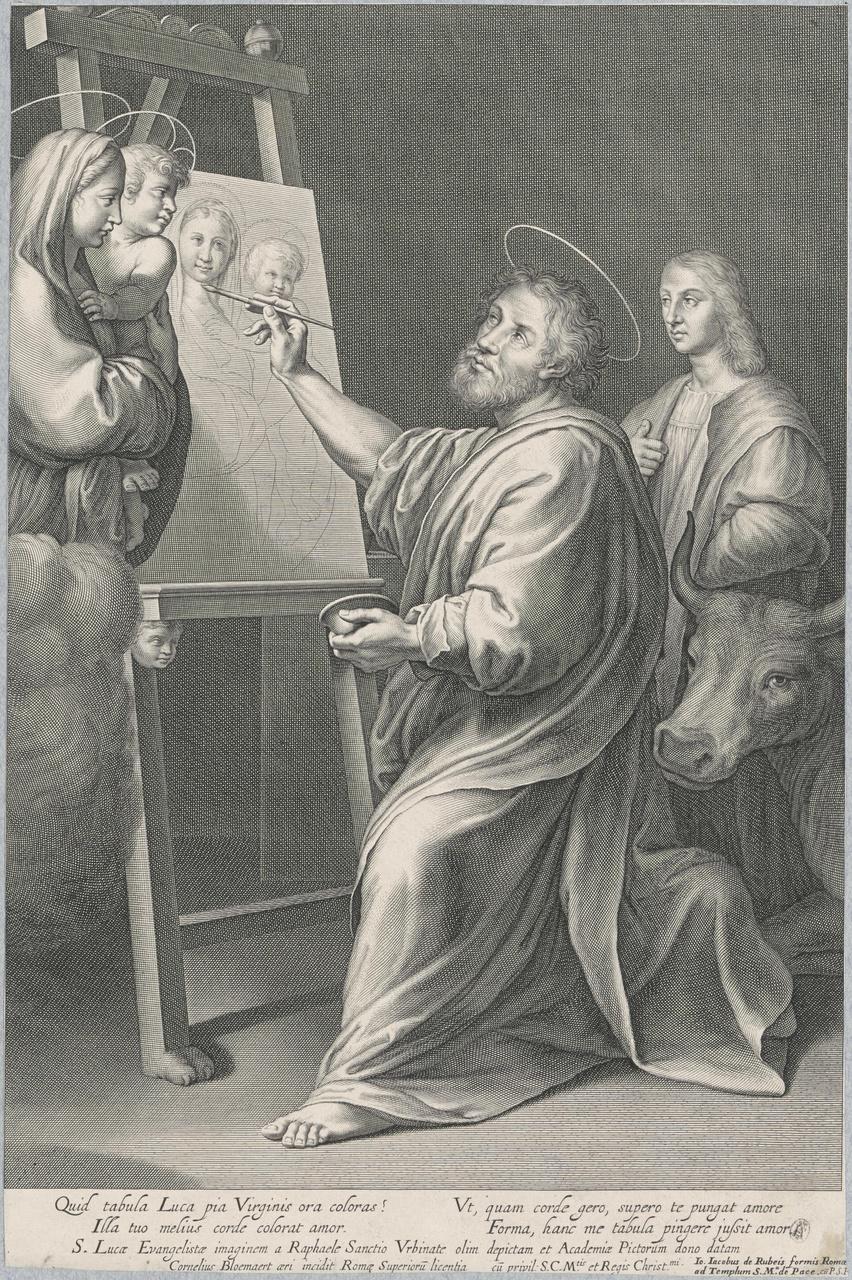 De heilige Lucas schildert de Madonna