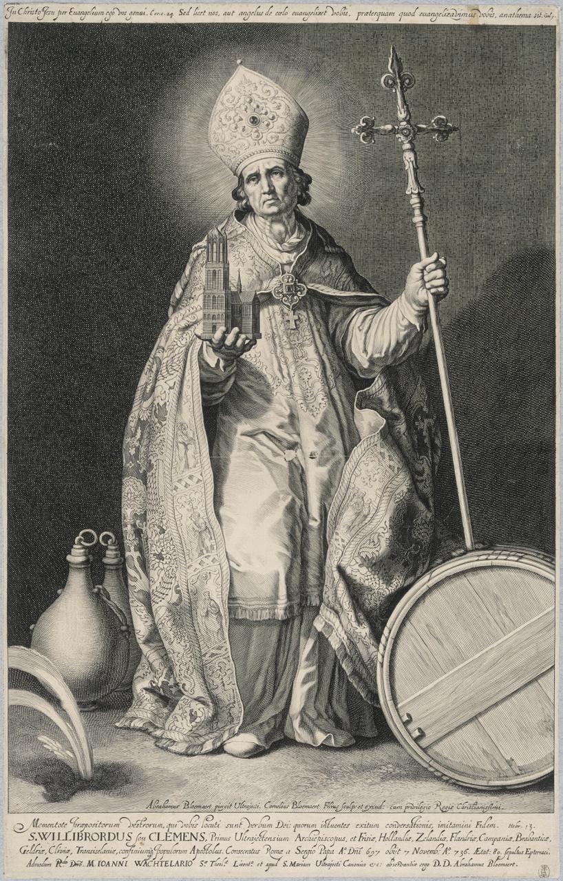 Heilige Willibrordus; de aartsbisschoppen en bisschoppen van Utrecht
