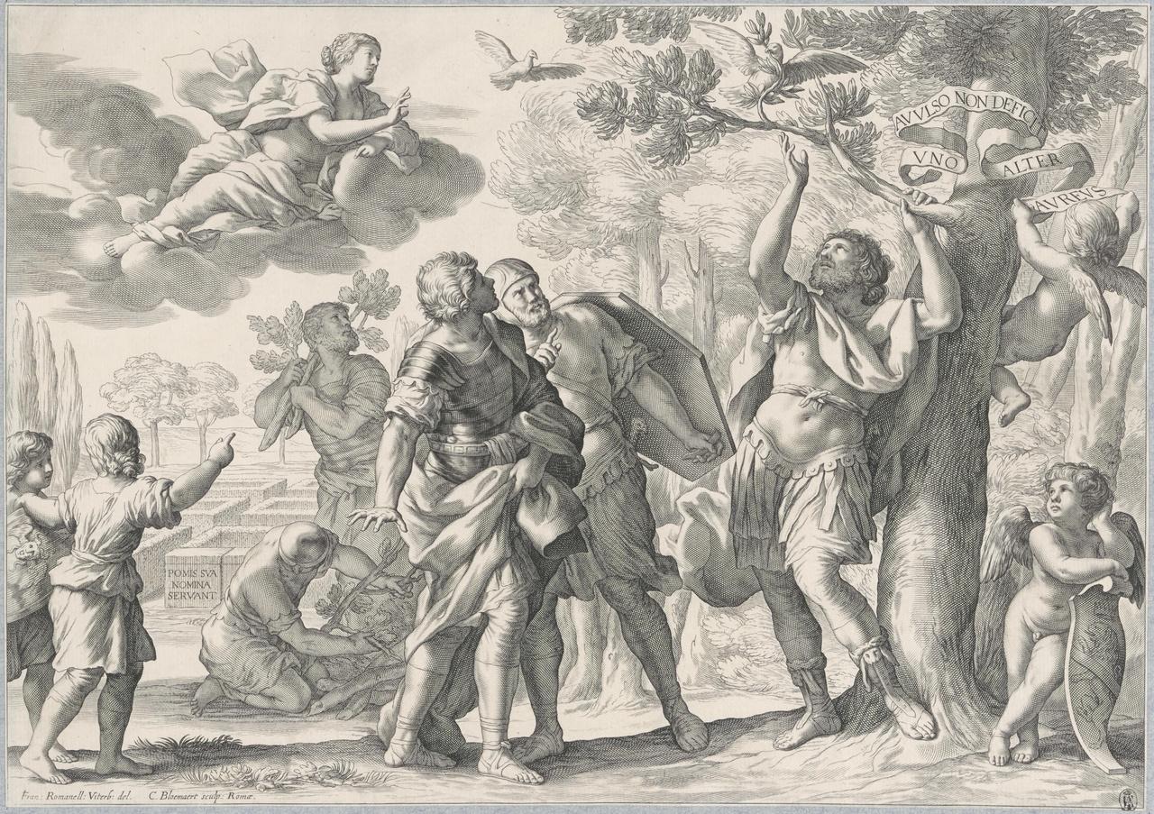 Aeneas breekt de gouden tak af