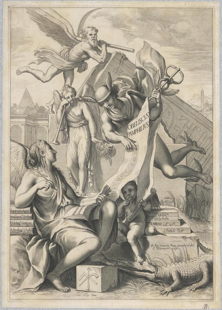 Mercurius openbaart aan de Geschiedenis de mysteriën der Egyptenaren (titelblad)