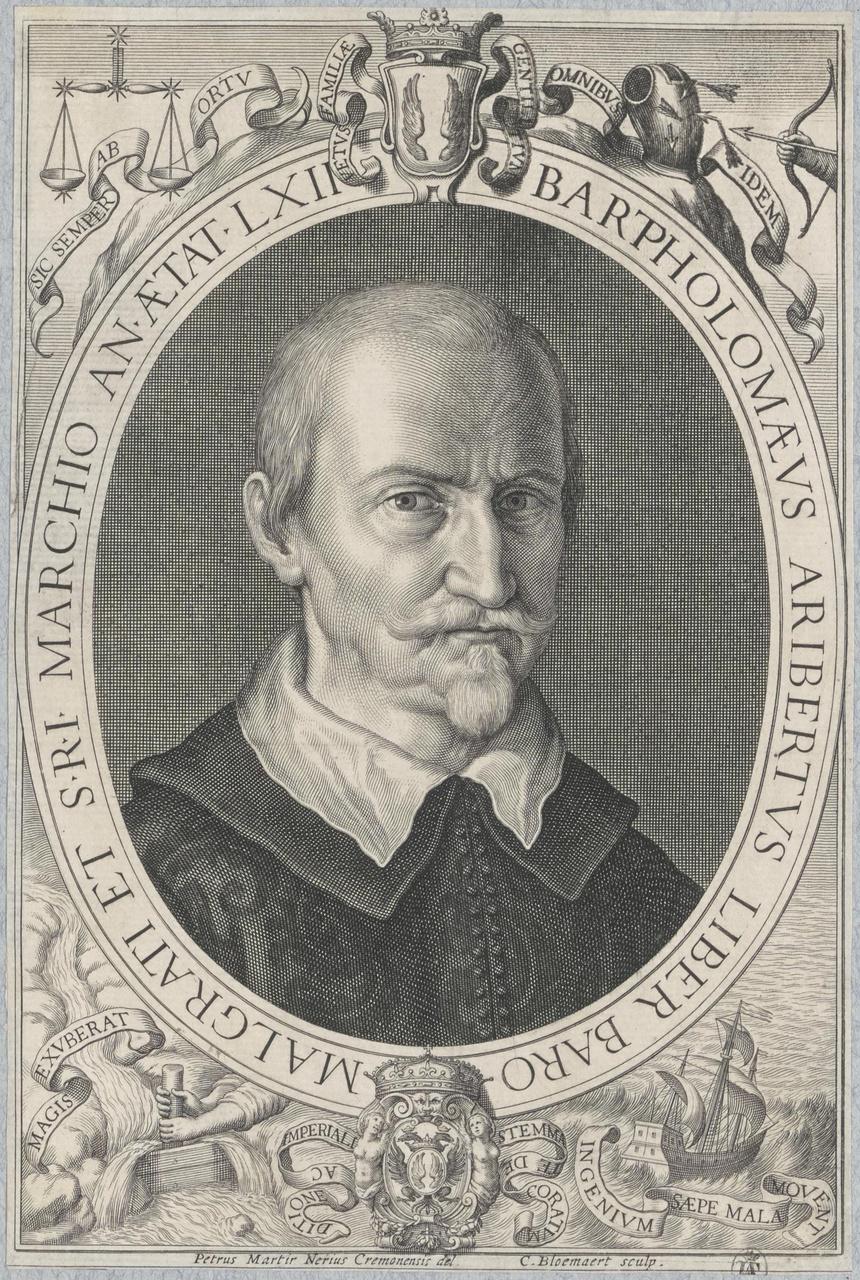 Portret van Bartholomeus Aribertus