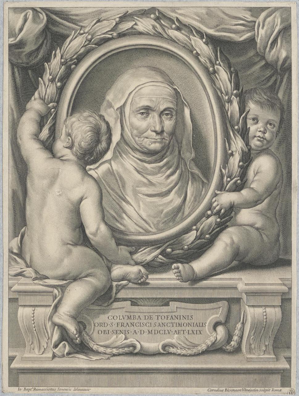Portret van Colomba Tofanini (ca.1576-1655)